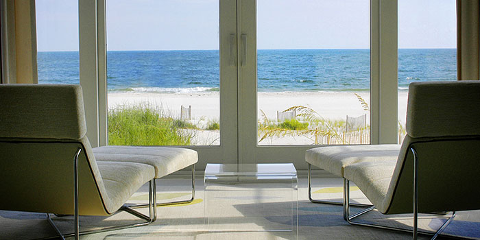 Beautiful gulf shores beach view at Kiva Dunes