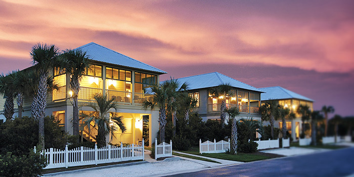 Kiva Dunes condos in the evening