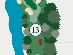 Kiva golf course, hole thirteen